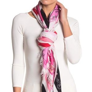 New Kate Spade Love Letters Printed Scarf